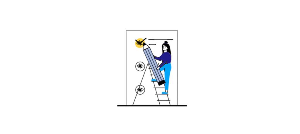 Lista di controllo Accessibilità visiva - illustrazione della lista di controllo