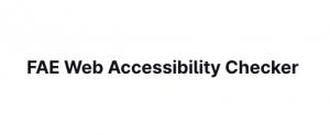 FAE web accessibility checker
