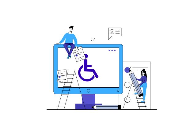 Strumenti di test web -Computer - uomo e donna