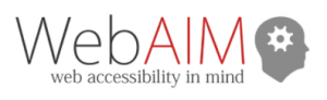 Logo WebAIM verifica