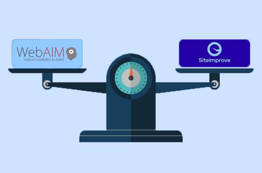 WebAIM vs SiteImprove web accessibility checkers comparison